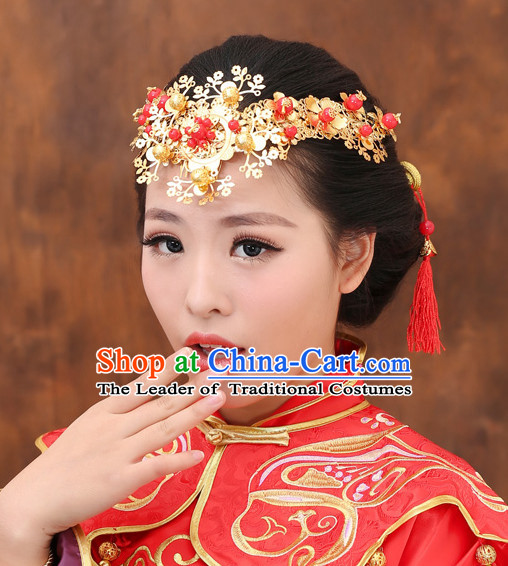 Traditional Chinese Princess Brides Wedding Headwear Phoenix Crown Coronet