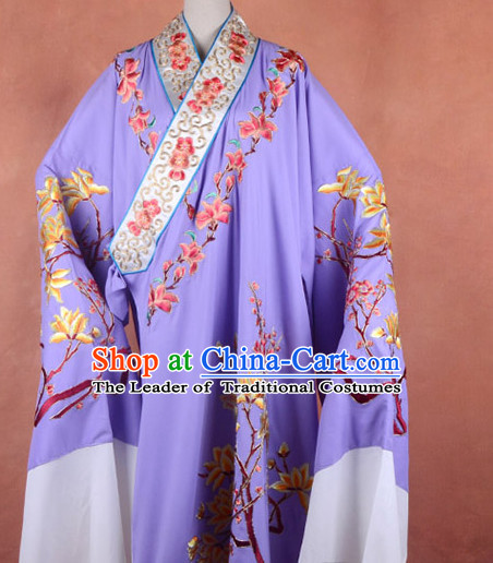 Top Embroidered Chinese Classic Peking Opera Young Scholar Costume Beijing Opera Long Robe Costumes Complete Set for Adults Kids Men Boys