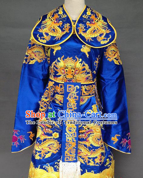 Ancient Chinese Embroidered Dragon Prince Costumes for Men