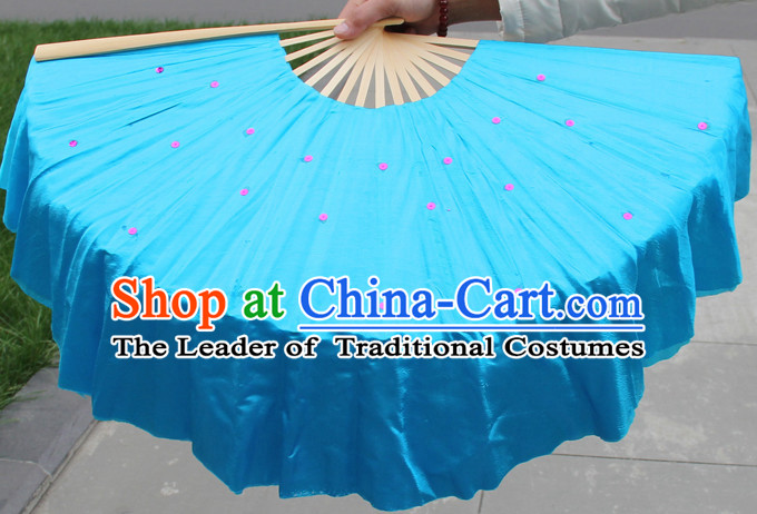 Traditional Chinese Blue Dance Fan