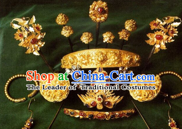 Ming Dynasty Female Empress Headpieces Hair Accessories Set