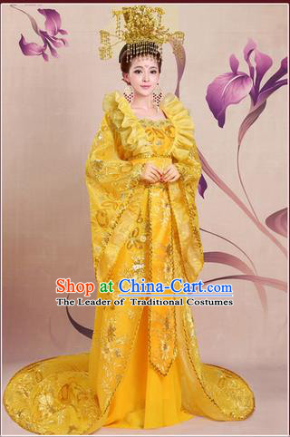 Ancient Chinese Palace Empress Costumes Complete Set, Tang Dynasty Ancient Palace Princess, Queen Dress Suits For Women