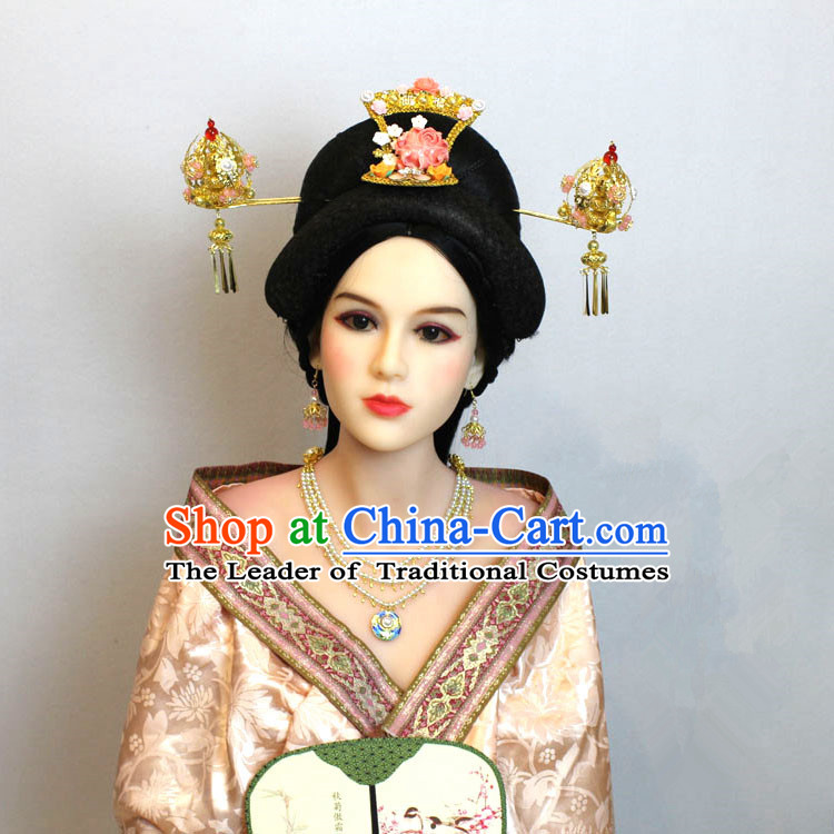 Chinese Ancient Style Hair Jewelry Accessories, Empress Hairpins, Queen, Han Dynasty Xiuhe Suit Wedding Bride Phoenix Coronet, Hair Accessories Set for Women