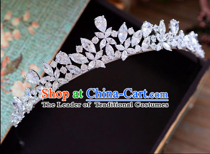 Traditional Jewelry Accessories Princess Bride Royal Crown Wedding Hair Accessories Baroco Style Headwear for Women