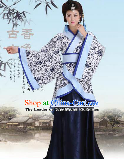 Ancient Chinese Palace Empress Costumes Complete Set, Han Dynasty, Ancient Palace Princess Hanfu Dress Suits For Women