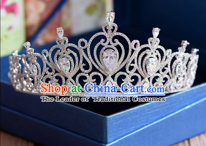 Traditional Jewelry Accessories, Princess, Bride Royal Crown, Wedding Hair Accessories, Baroco Style Crystal Headwear for Women