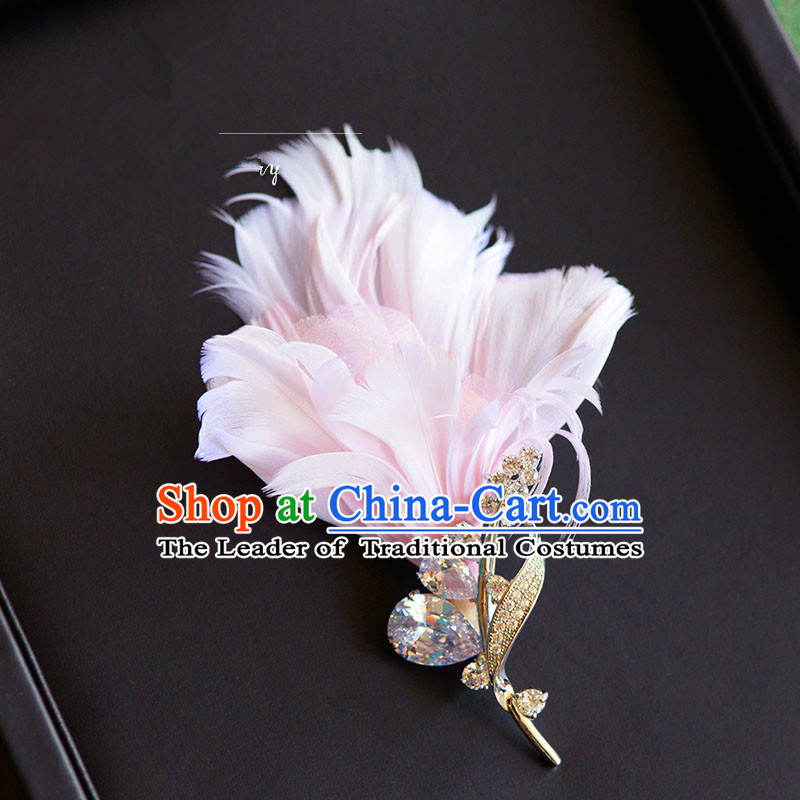 Traditional Jewelry Accessories, Princess Bride Wedding Accessories, Baroco Style Feather Brooch for Women