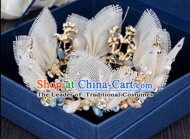 Traditional Jewelry Accessories, Princess Bride Royal Crown, Wedding Hair Accessories, Baroco Style Lace Headwear for Women