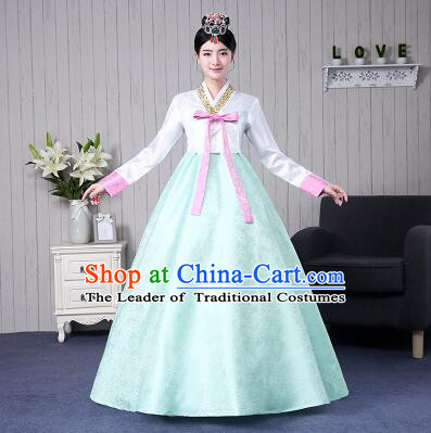 Korean Traditional Costumes Women Dress Wedding Full Dress Formal Attire Ceremonial Clothes Court Stage Dancing