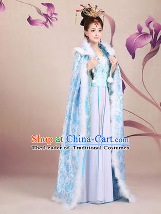 Ancient Chinese Palace Empress Costumes Complete Set, Tang Dynasty Ancient Palace Poncho, Cosplay Imperial Fairy Princess Cloak for Women