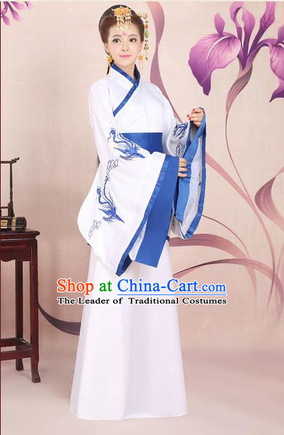 Ancient Chinese Palace Empress Costumes Complete Set, Han Dynasty Ancient Palace Princess Dance Clothing, Hanfu Curving Front Robe, Cosplay Fairy Imperial Consort Dress Suits For Women