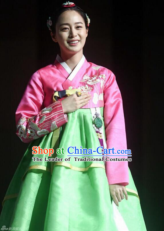 Korean Traditional Dress Women Costumes Clothes Korean Full Dress Formal Attire Ceremonial Dress Court Stage Dancing