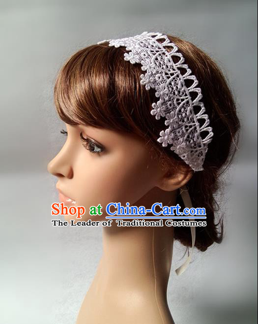 Chinese Wedding Jewelry Accessories, Traditional Bride Headwear, Wedding Tiaras, Imperial Bridal Wedding Lace Hair Clasp