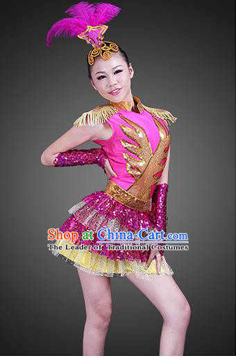 High-quality Dancewear Costumes for Jazz, Tap, Lyrical, Hip Hop and Ballet, Folk Dance Costume, Jazz Dancing Cloth for Kids