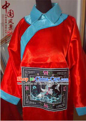 Qing Dynasty Men Costume Official Clothes Imperial Palace Royal Family Member Chieftain Clothing and Hat Red