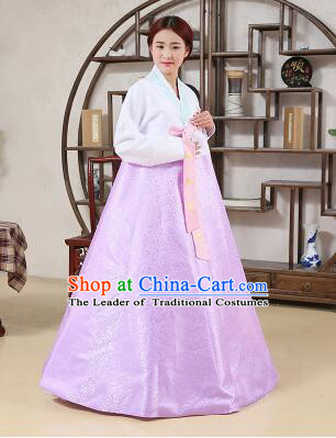 Korean Traditional Dress Korean Style Women Girl costume Dancing Show Full Attire Formal Clothes Purple
