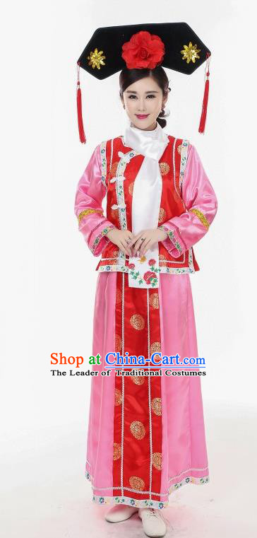 Princess Pearl of Returning Traditional Chinese Acient Qang Dynasty Costume, Manchu Princess Costume, Qing Dynasty Palace Dress for Women