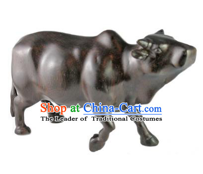 Traditional Asian Thai Furnishing Articles Thai Handmade Handicrafts Accumulate Wood Carving Bull