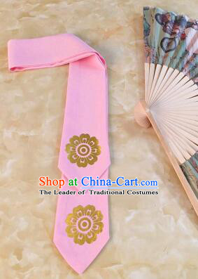 Korean Hair Band for Women Hair Strap Ties Headwrap Kerean Traditional Hot Stamping Bronzing Pink