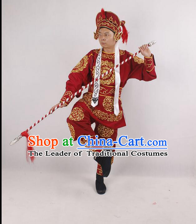 Beijing Opera Drama Supplies Costumes Player Male Soldiers Clothing Men Clothing