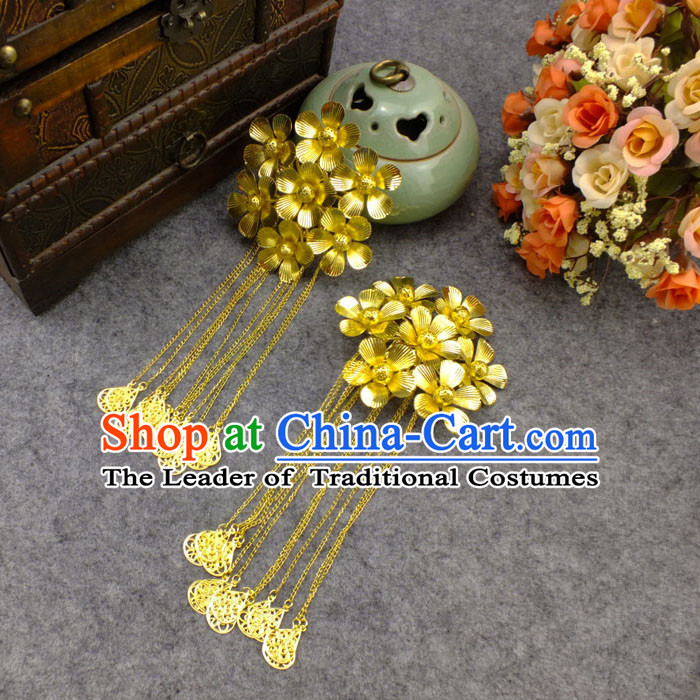 Chinese Ancient Style Hair Jewelry Accessories, Hairpins, Hanfu Xiuhe Suits Wedding Bride Headwear, Headdress Imperial Empress for Women