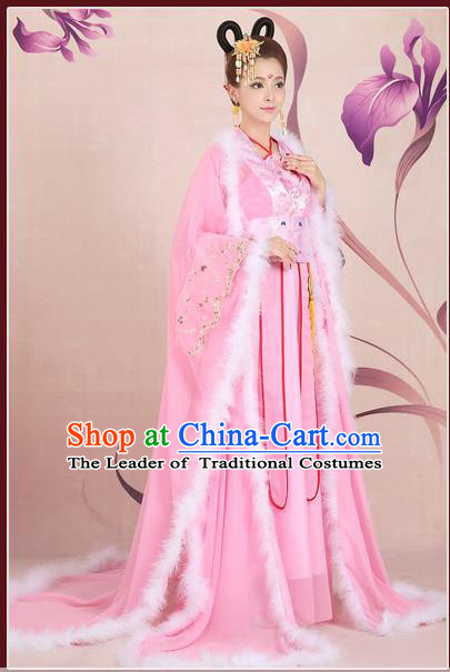 Ancient Chinese Palace Empress Costumes Complete Set, Tang Dynasty Ancient Palace Princess Wedding Dress For Women