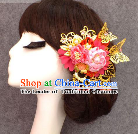 Chinese Ancient Style Hair Jewelry Accessories, Hairpins, Hanfu Xiuhe Suit Wedding Bride Hair Accessories for Women