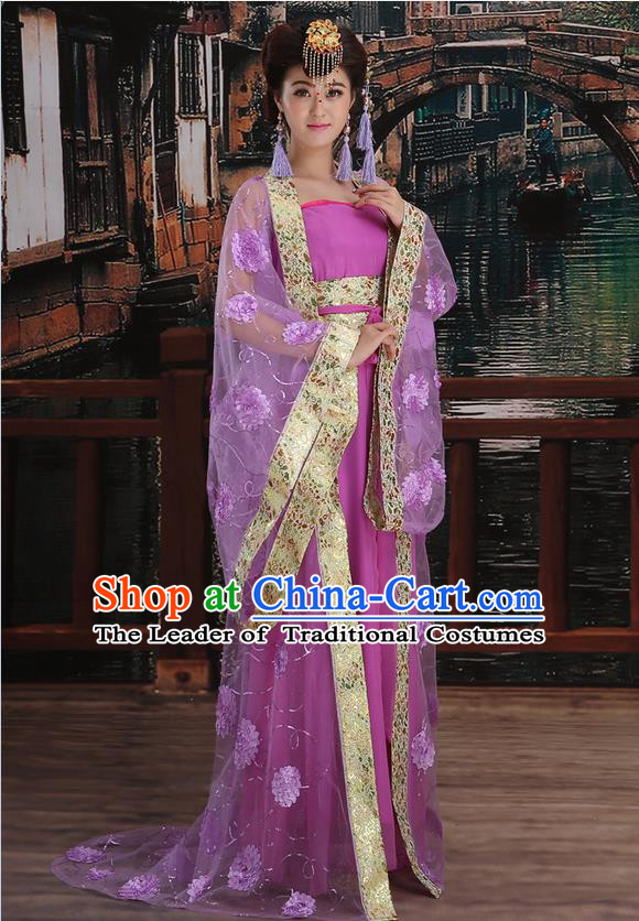 Ancient Chinese Palace Empress Costumes Complete Set, Tang Dynasty Ancient Palace Princess Wedding Dress Suits For Women