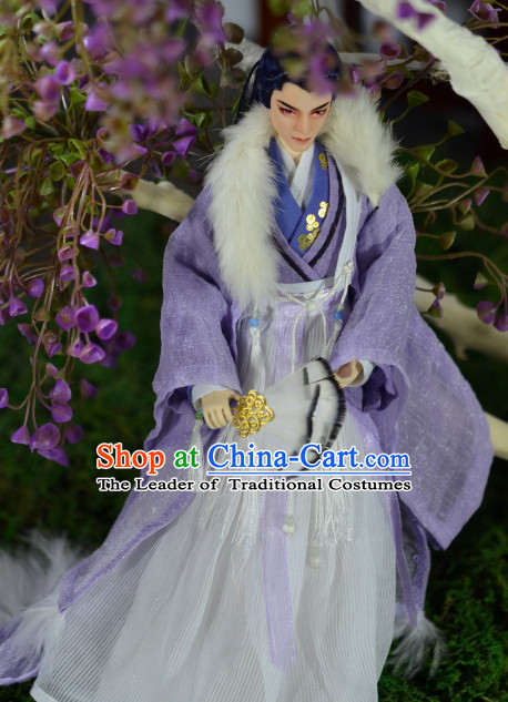 Ancient Han Chinese Prince Emperor Clothing Complete Set for Men Boys Adults Kids