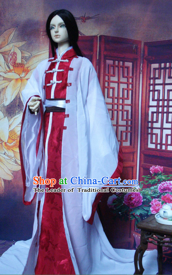 Ancient Han Chinese Clothing Complete Set for Men Boys Adults Kids