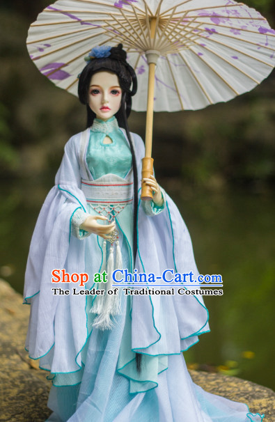 Ancient Chinese Hanfu Clothing and Hair Jewelry Complete Set for Women