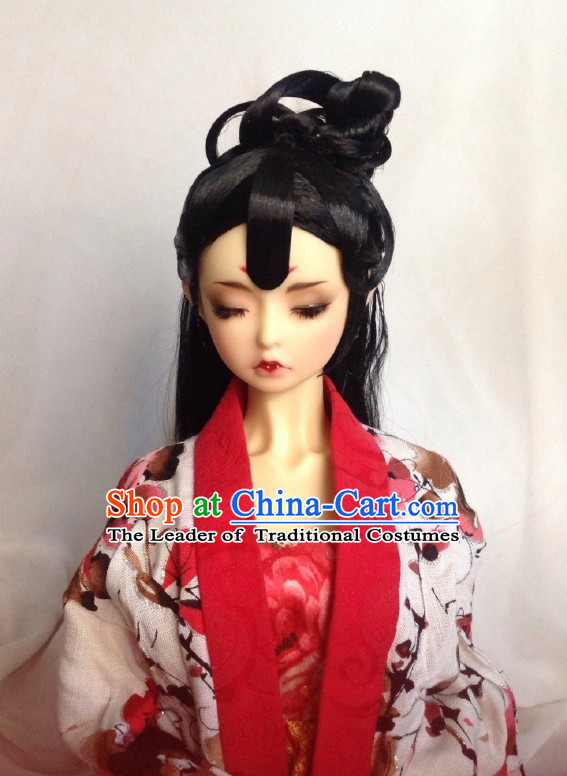 Ancient Chinese Female Princess Queen Empress Black Wigs