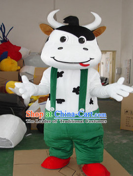 Mascot Uniforms Mascot Outfits Customized Walking Mascot Costumes Cartoon Character Cow Mascots Costume
