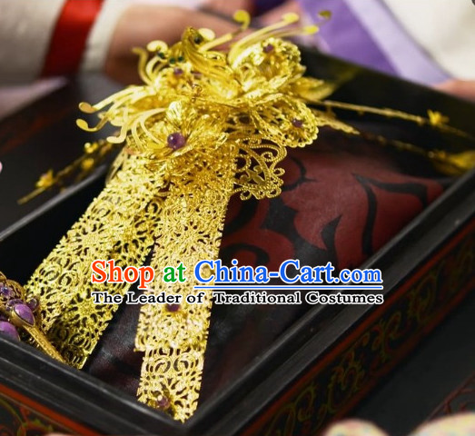 Ancient Chinese Style Princess Empress Hair Jewelry for Women Girls Adults Children