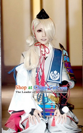 Top Japanese Ancient Swordsman Swordmen Cosplay Costumes Complete Set for Men or Women