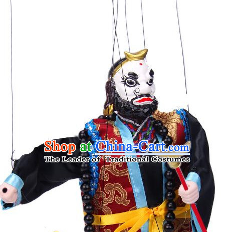 Traditional Chinese Handmade Sha Seng String Puppet Hand Puppets