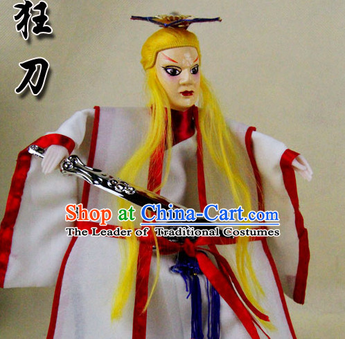 Traditional Chinese Handmade Swordsman Hand Puppets Hand Marionette Puppet