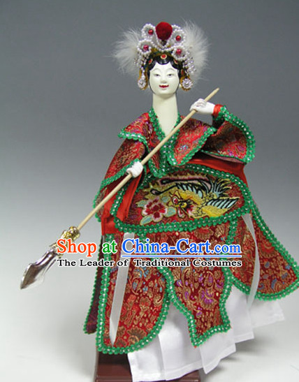 Traditional Chinese Handmade Fan Lihua Glove Puppet String Puppet Hand Puppets Hand Marionette Puppet Arts Collectibles