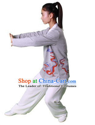 Chinese Traditional Kung Fu Practice and Competition Costume Wing Chun Apparel Taiji Tai Chi Uniform for Adults Children Women Girls
