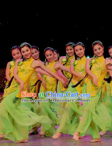 Professional Chinese Folk Village Dance Costume for Women Girls Adults Kids