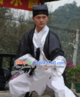 Chinese Folk Taoist Costumes for Men Adults Kids Children