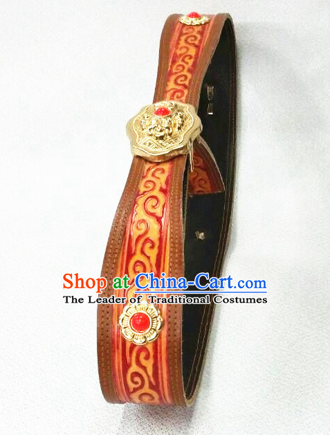 Traditional Chinese Mongolian Feather Belt for Women Girls