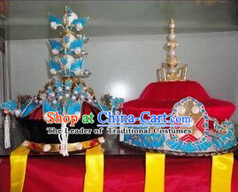 Handmade Ancient Traditional Chinese Emperor and Empress Hat Oriental Hats China Fashion