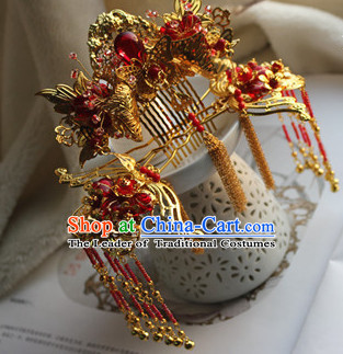 Ancient Chinese Empress Princess Queen Crown Coronet Headpieces Headdress Hair Accessories Set