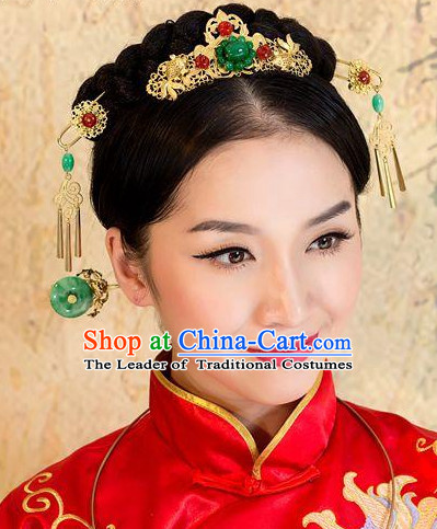 Ancient Chinese Empress Princess Queen Hair Style Accessories Hair Sticks Clips Hair Pin Hair Pieces Combs Ancient Chinese Chopsticks Asian Wedding Bridal Hair Ornaments Crown