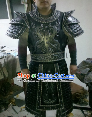 Chinese General Fighter Knight Ancient Armor Costumes Complete Set for Men