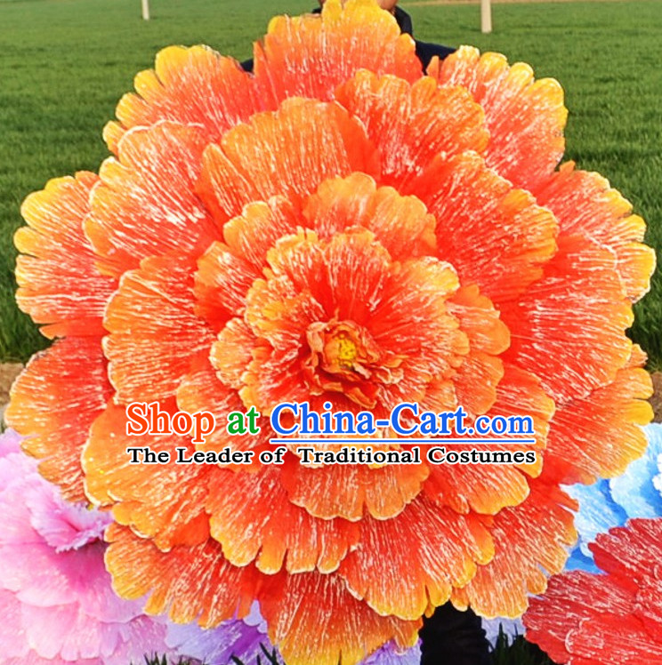 0.7 Meter Big Flower Dance Props Props for Dance Dancing Props for Sale for Kids Dance Stage Props Dance Cane Props Umbrella Children Adults