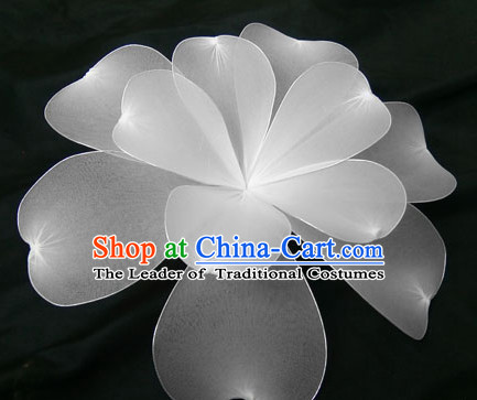 Big White Flower Dance Props Props for Dance Dancing Props for Sale for Kids Dance Stage Props Dance Cane Props Umbrella Children Adults
