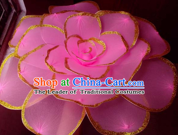 Big Lotus Flower Dance Props Props for Dance Dancing Props for Sale for Kids Dance Stage Props Dance Cane Props Umbrella Children Adults