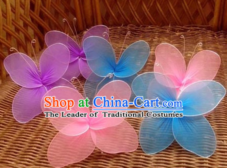 Handmade Butterfly Dance Props Props for Dance Dancing Props for Sale for Kids Dance Stage Props Dance Cane Props Umbrella Children Adults